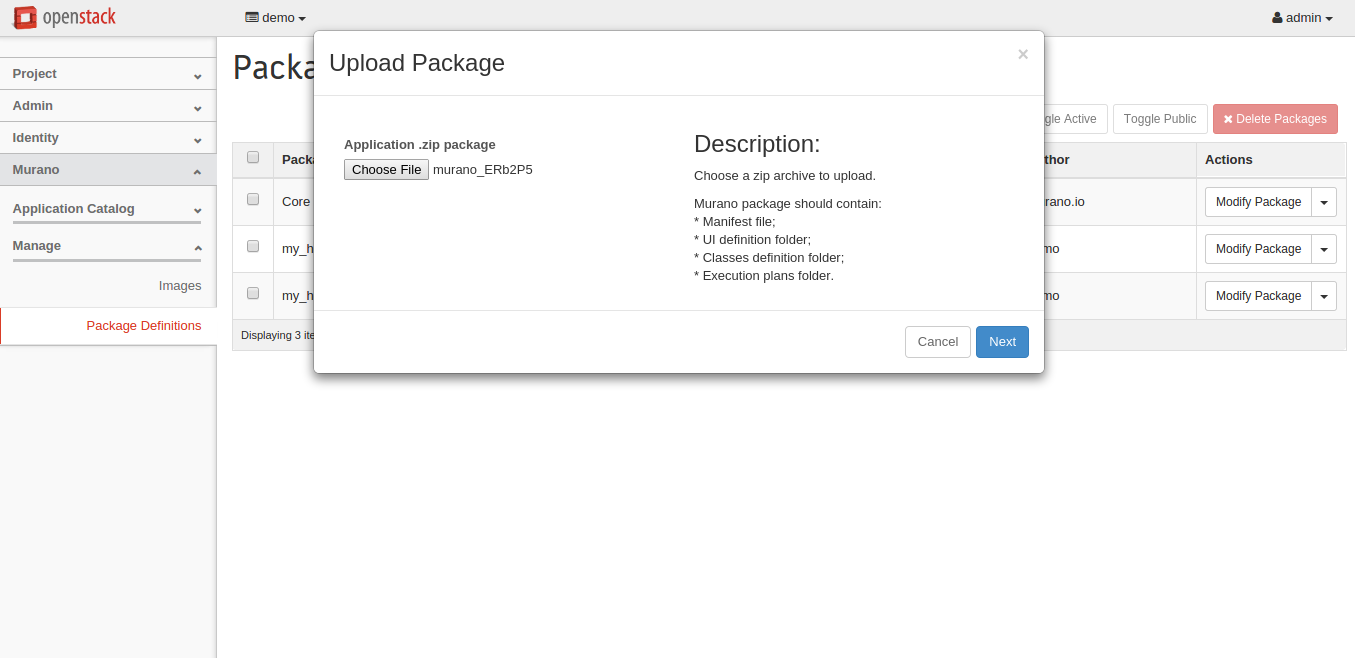 Package Definitions - OpenStack Dashboard(Upload).png